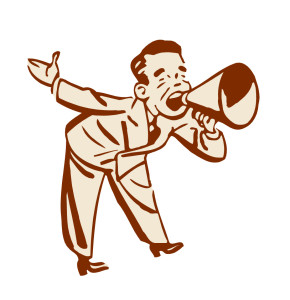 man-w-megaphone